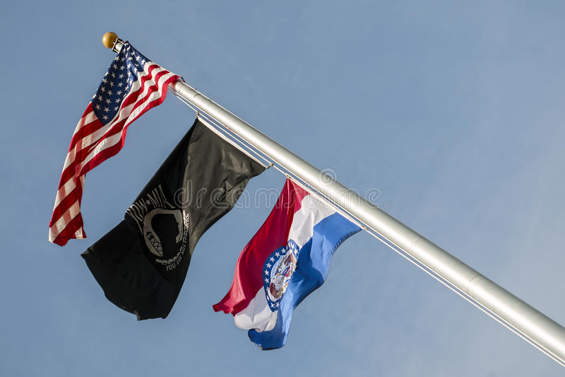 Флаги, США, Миссури, плен, mia, стоковое изображение rf