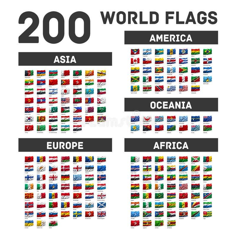 флаги установили мир иллюстрация штока