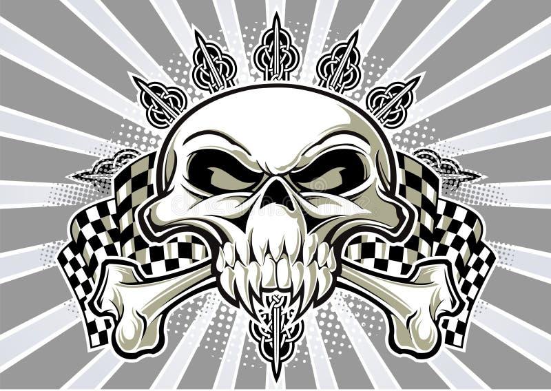 Флаги черепа и гонок бесплатная иллюстрация