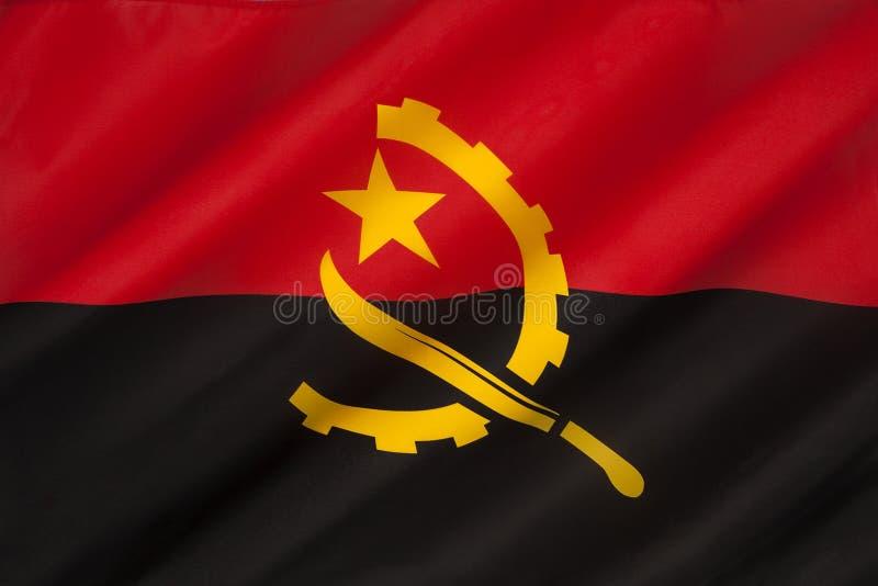 Флаг Анголы - Африки стоковые изображения
