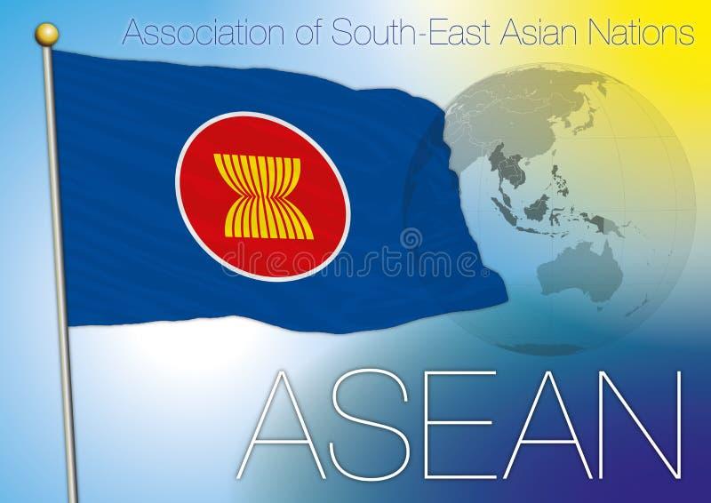 Флаг АСЕАН иллюстрация вектора