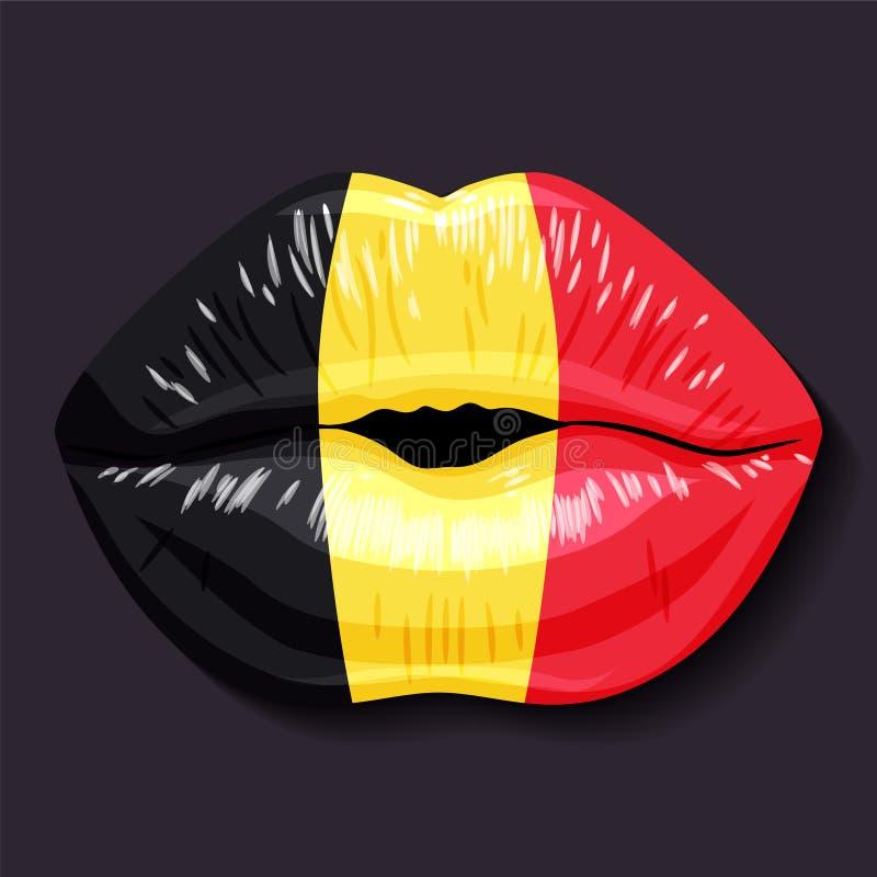 флаг Бельгии иллюстрация вектора