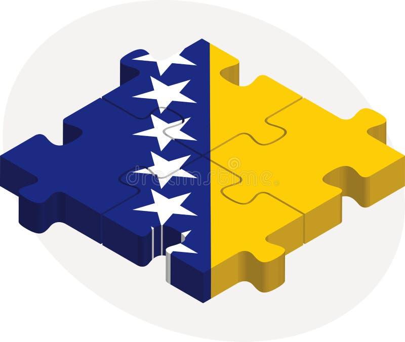 Флаг Боснии Herzegovinan в головоломке иллюстрация штока