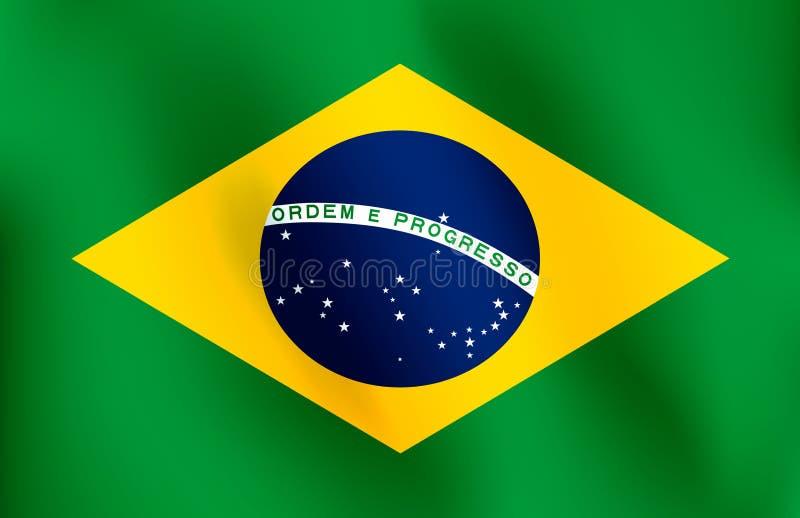 Флаг Бразилии - иллюстрации вектора иллюстрация штока