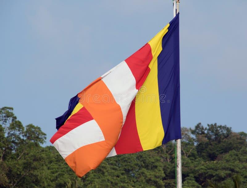 Флаг буддизма стоковая фотография rf