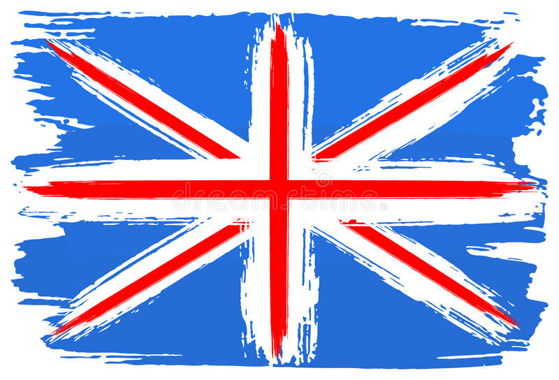 Флаг Великобритании покрасил с ходами щетки бесплатная иллюстрация