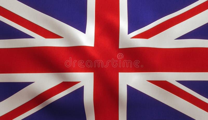 Флаг Великобритания британцев стоковое изображение rf