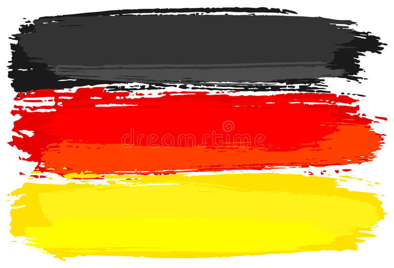 Флаг Германии покрасил с ходами щетки иллюстрация вектора