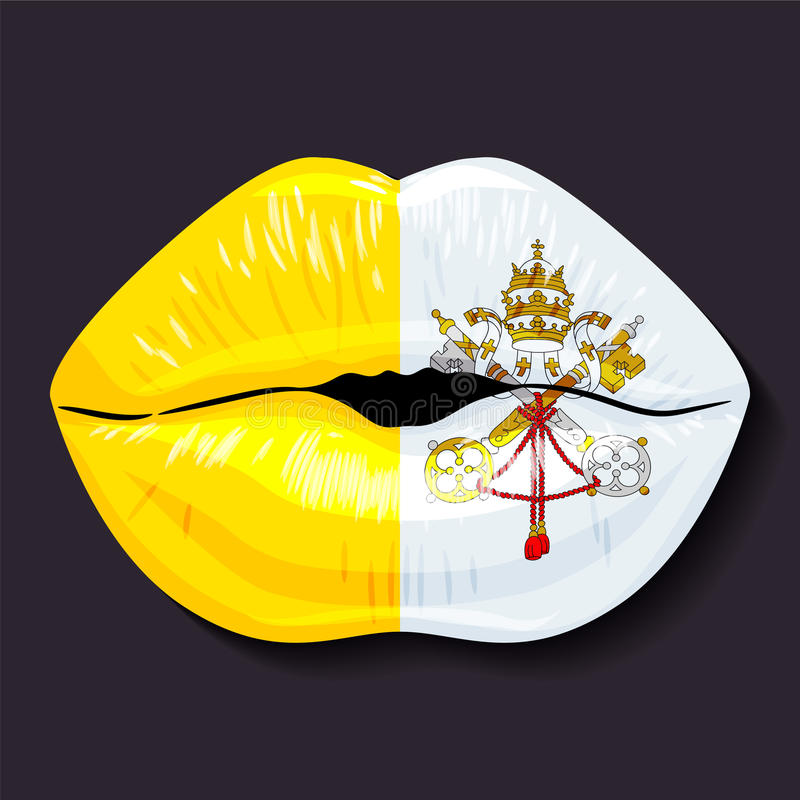 Флаг государства Ватикан иллюстрация штока