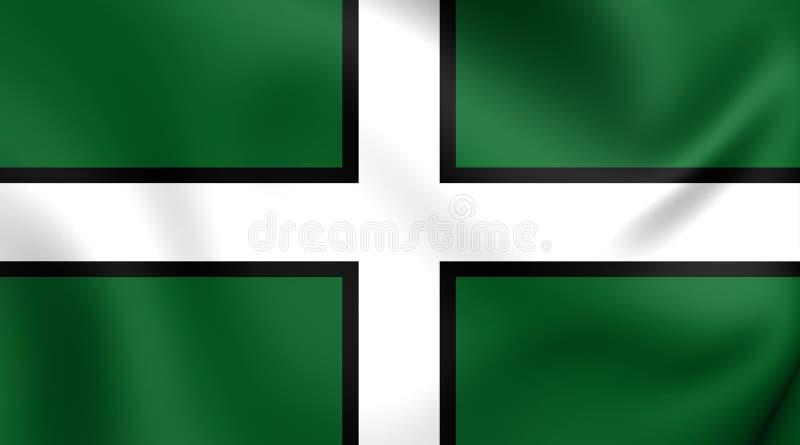Флаг Девона, Англии бесплатная иллюстрация