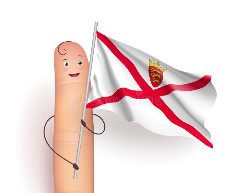Флаг Джерси развевая бесплатная иллюстрация