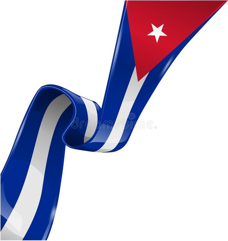 Флаг ленты Кубы бесплатная иллюстрация