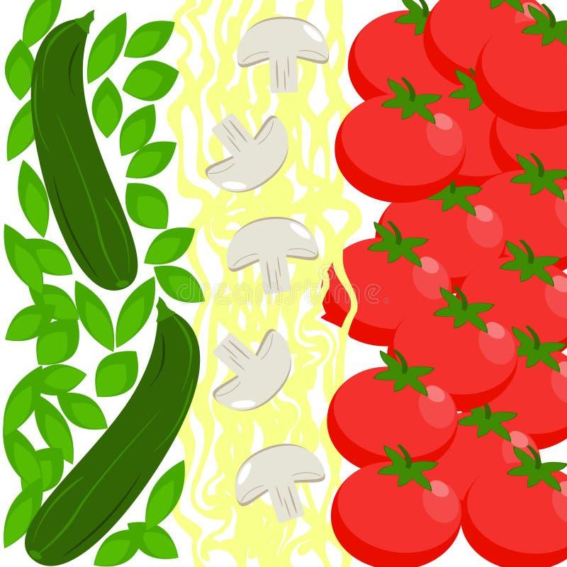 Флаг еды Италии иллюстрация штока