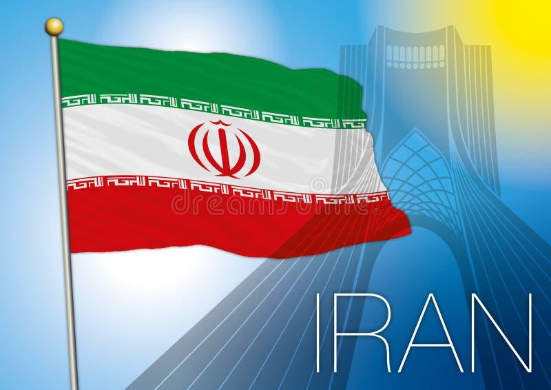 флаг Иран иллюстрация вектора