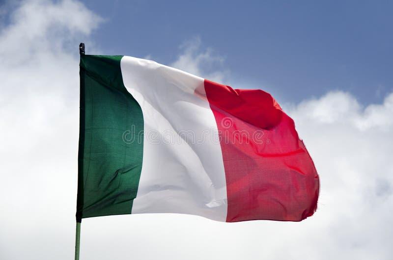 Флаг Италии развевая стоковое фото rf