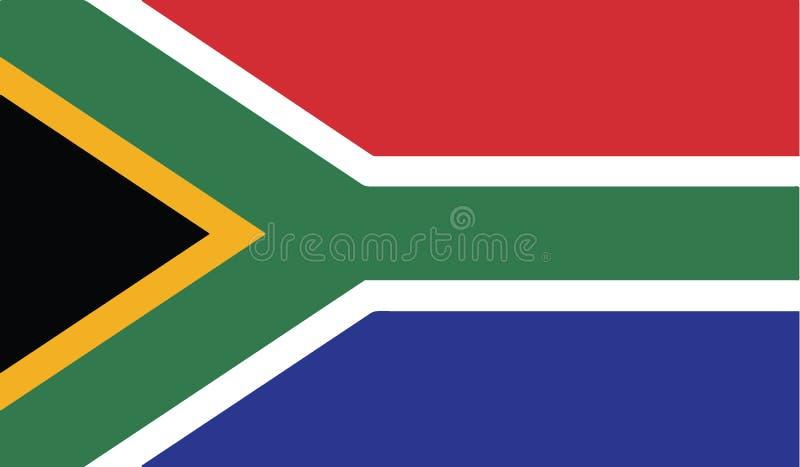 Флаг иллюстрации значка Южной Африки иллюстрация вектора