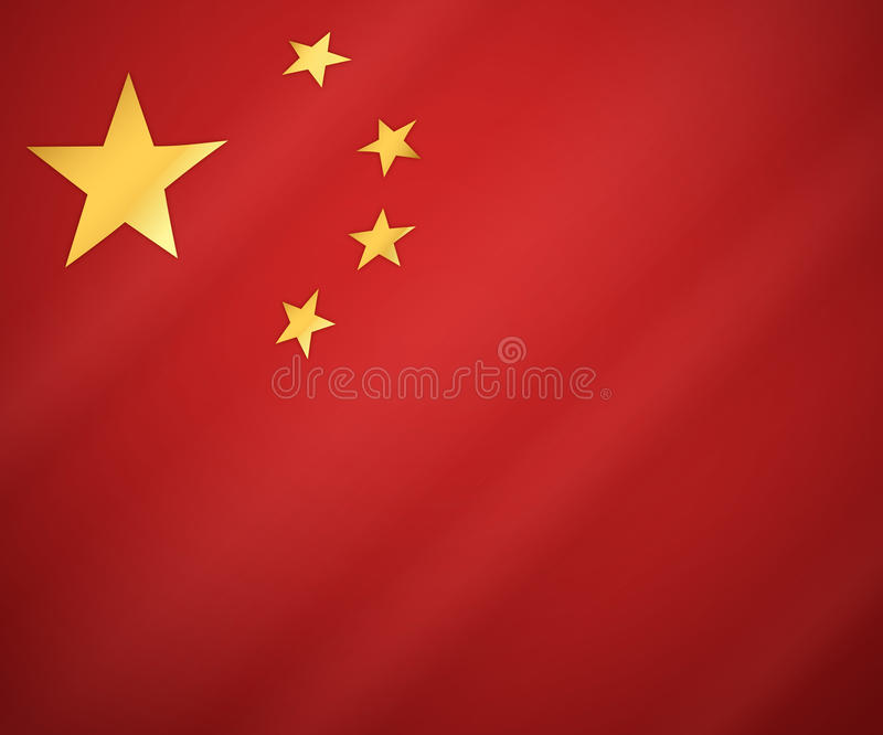 Флаг китайца иллюстрация вектора