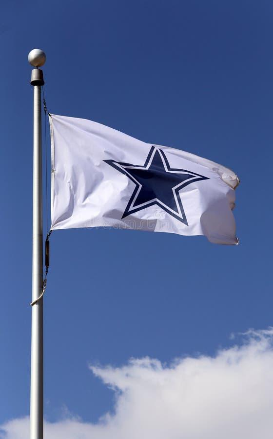 Флаг ковбоев Далласа стоковое фото