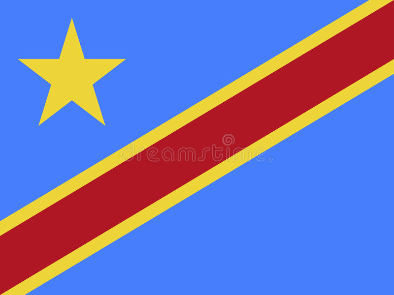 Флаг Конго бесплатная иллюстрация