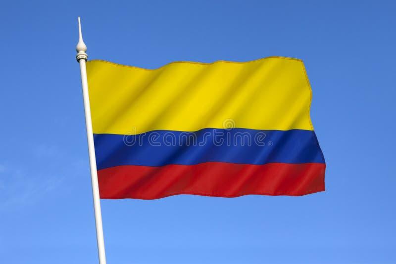 Флаг Колумбии - Южной Америки стоковое изображение rf
