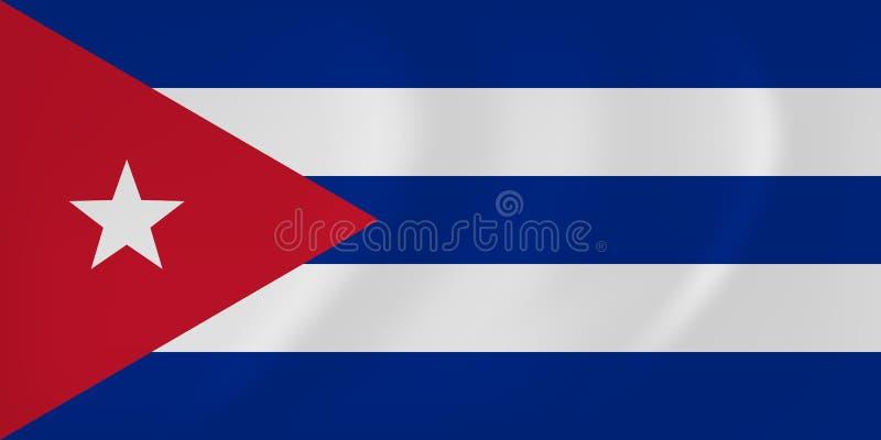 Флаг Кубы развевая иллюстрация вектора