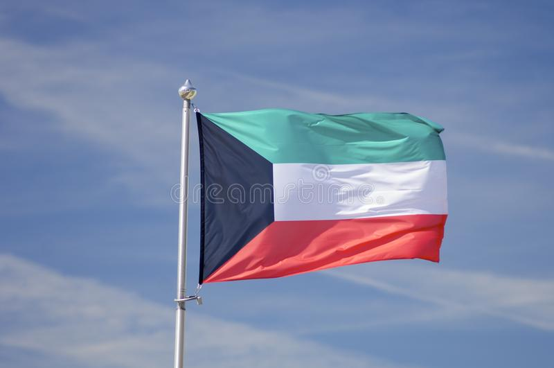 Флаг Кувейта стоковое изображение