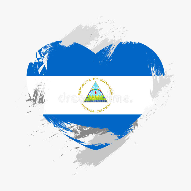 флаг Никарагуа стоковые изображения