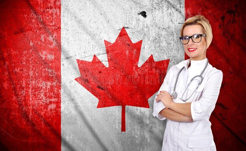 Флаг доктора и Канады стоковое фото