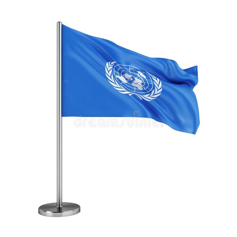 Флаг Организации Объединенных Наций иллюстрация штока