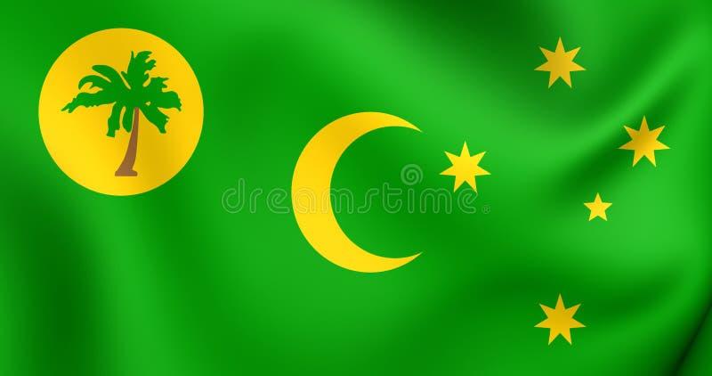 Флаг островов Cocos иллюстрация вектора