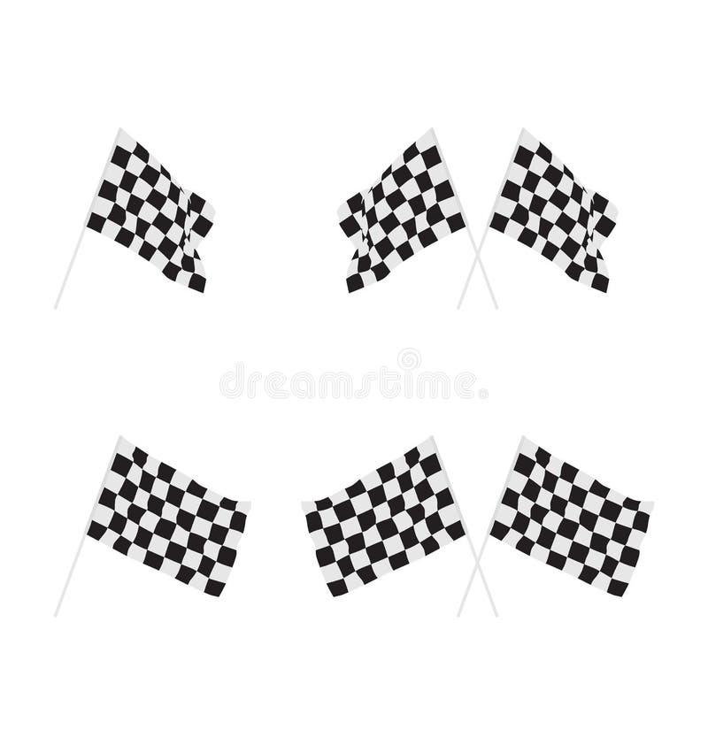 Флаг отделки для гоночного автомобиля бесплатная иллюстрация