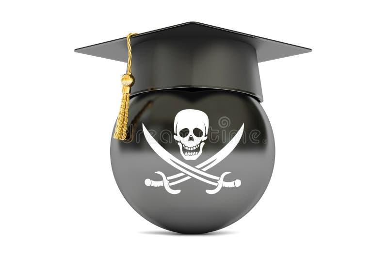 Флаг пирата с крышкой градации бесплатная иллюстрация