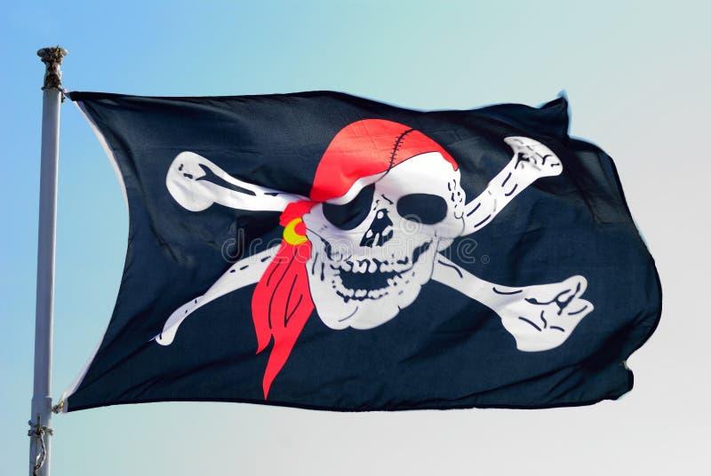 Флаг пирата стоковое изображение rf