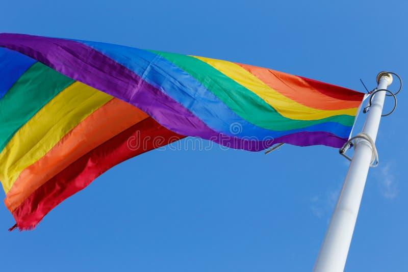 Флаг радуги стоковое изображение rf