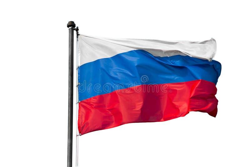 Флаг России на белой предпосылке стоковые изображения