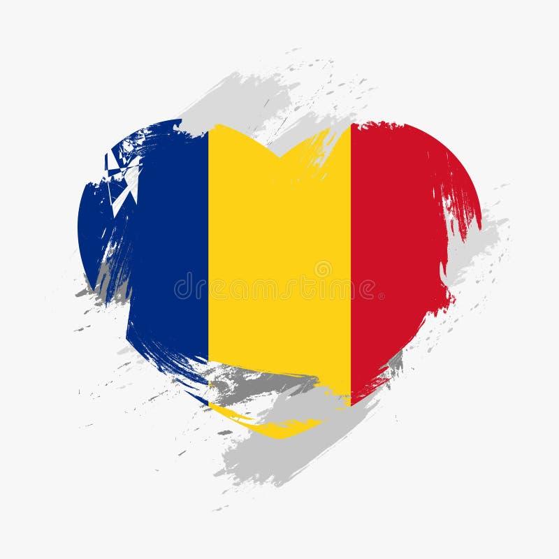 флаг Румыния стоковая фотография rf