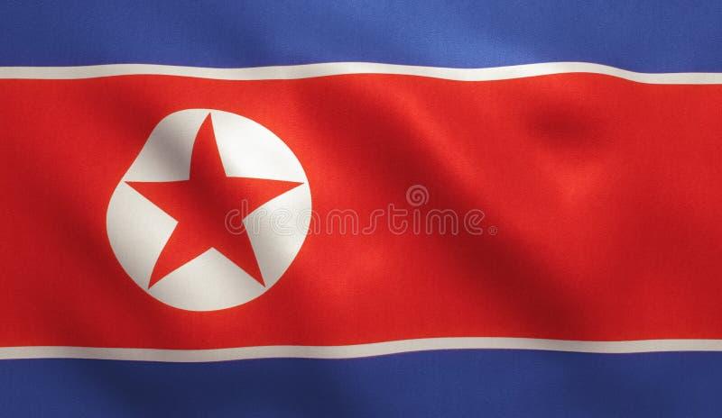 Флаг Северной Кореи бесплатная иллюстрация