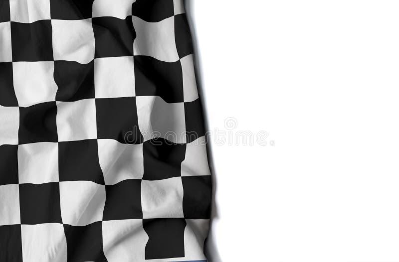 флаг сморщенный автогонками, космос для текста иллюстрация вектора
