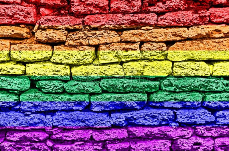 Флаг стены радуги LGBT стоковые фото