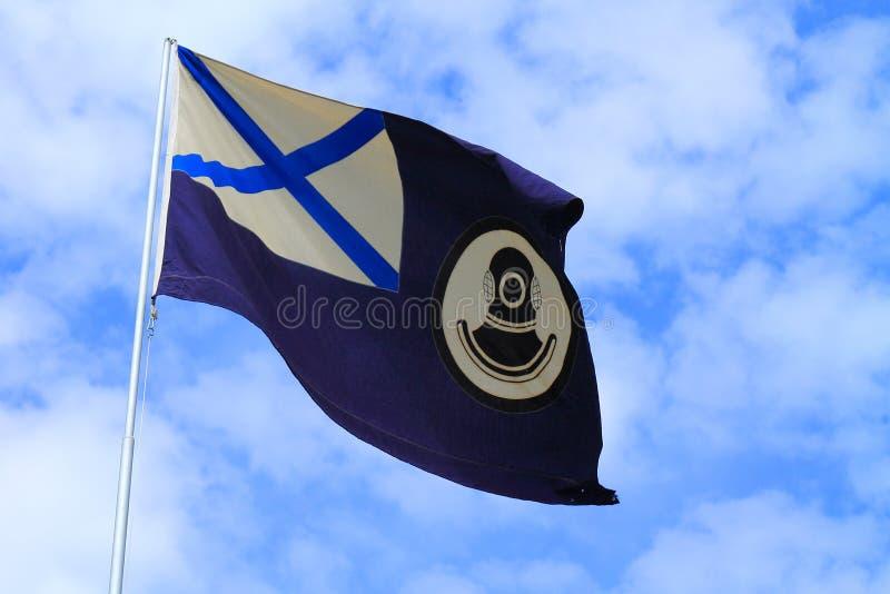 Флаг судов поиска и спасения стоковое изображение