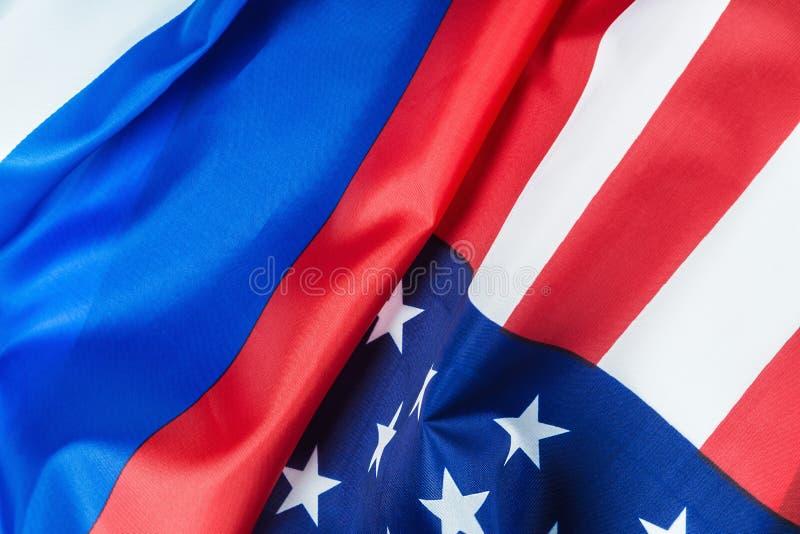 Флаг США и флаг России стоковое фото rf