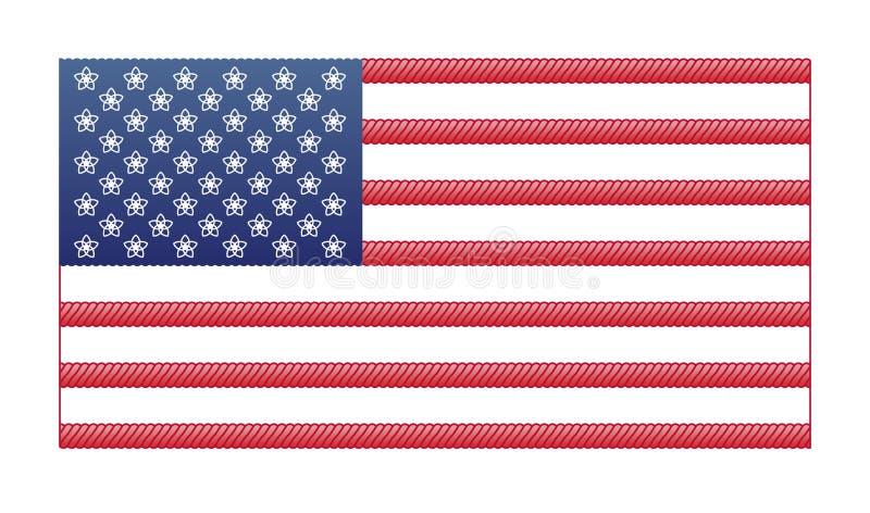 флаг США 4-ое июля Дизайн вектора Дня независимости иллюстрация вектора
