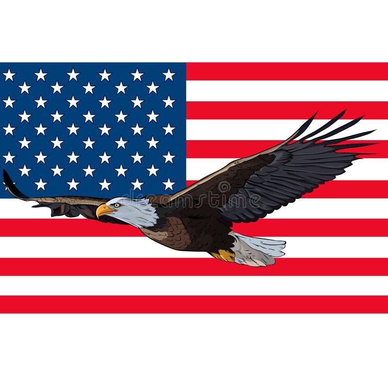 Флаг США орла иллюстрация штока