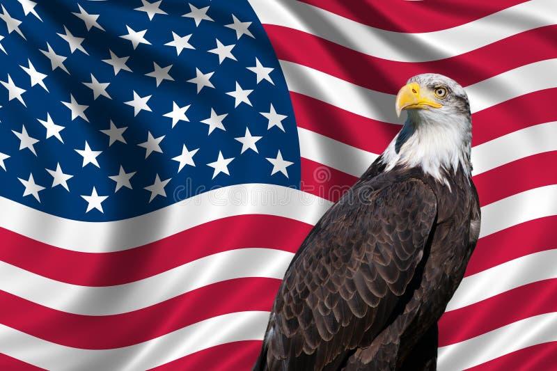 Флаг США с белоголовым орланом бесплатная иллюстрация
