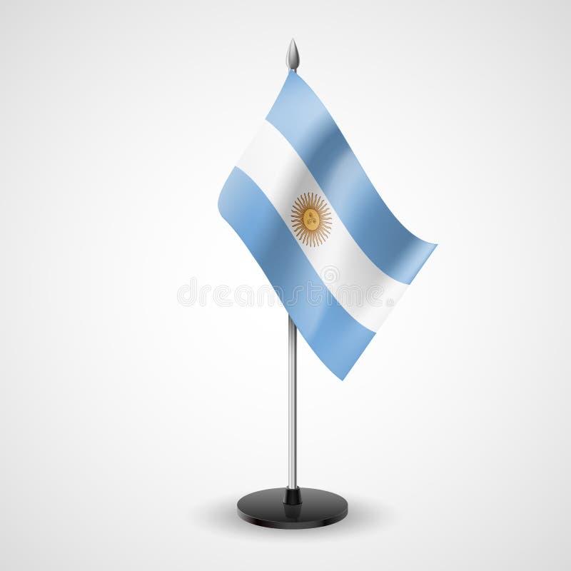 Флаг таблицы Аргентины иллюстрация вектора