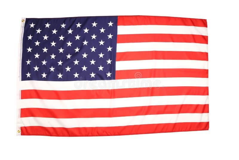 Флаг ткани США стоковое фото