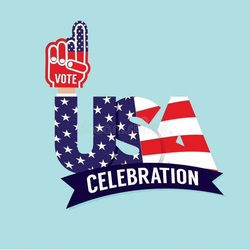 Флаг торжества США голосования иллюстрация вектора