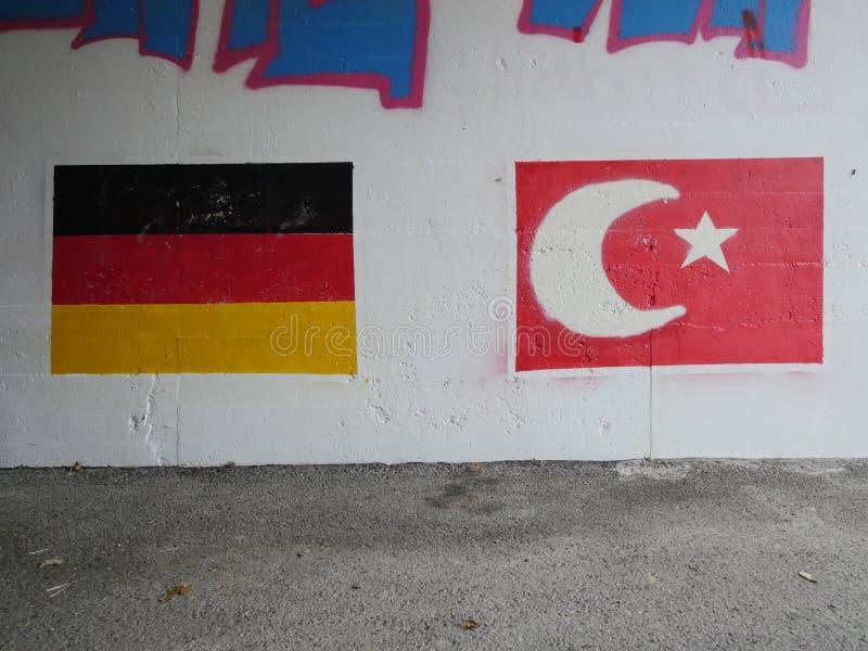 Флаг Турции немца стоковые изображения rf