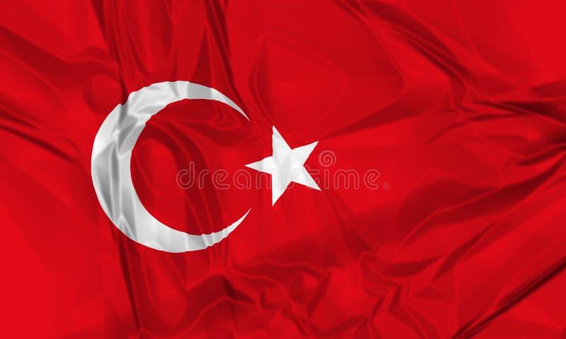 Флаг Турции иллюстрация вектора