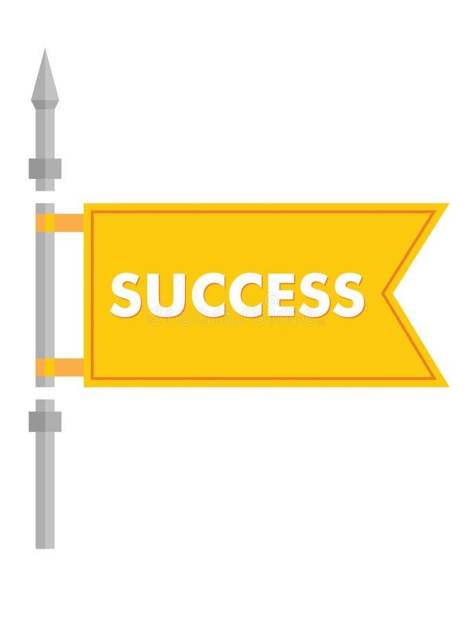 Флаг успеха бесплатная иллюстрация